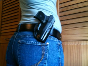 I think the belt weighs more than the LCP and the holster, combined.